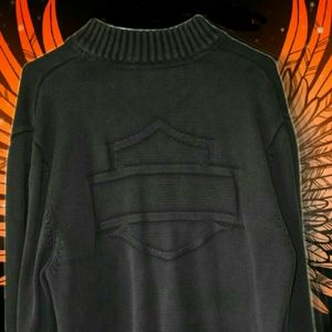Harley-Davidson Knitted Sweater Long Sleeve L
